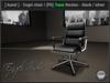 [ kunst ] - Boss office chair II - black wood / black leather / silver metal (T)