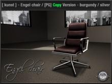 [ kunst ] - Engel chair / burgundy - silver [PG] - Copyable (see details)