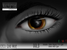 Nocturnal : Eyes_Gold Wolf