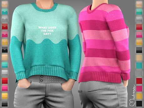 Mutresse . Piki Sweater - 28 Fabrics (Rigged Mesh)