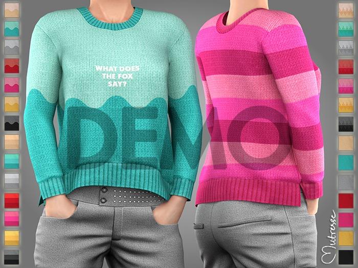 [DEMO] Mutresse . Piki Sweater - 28 Fabrics (Rigged Mesh)