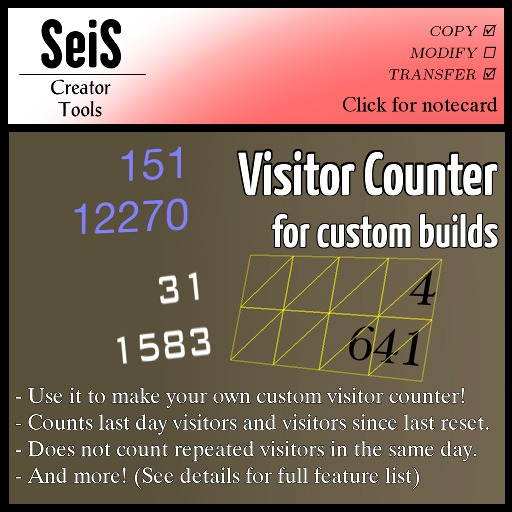 Visitor Counter for Custom Builds