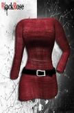 BlackRose Mini Belted Dress Grunge Knit Red