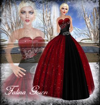Falln Falina Gown Red
