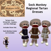 Thadovian LTD Sock Monkey Avatar Dresses - Regional Tartans