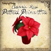 [DDD] Poinsettia Pot - Classic Red