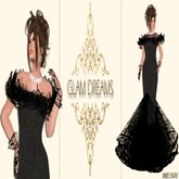 Glam Dreams Andrea Lace Gown (Black)