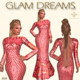 * 50% OFF !!! - Glam Dreams Simplicity Gown (Coral Abstract)