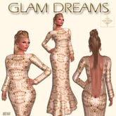 * 50% OFF !!! - Glam Dreams Simplicity Gown (Golden Allure)