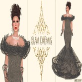Glam Dreams Andrea Lace Gown (Gray)