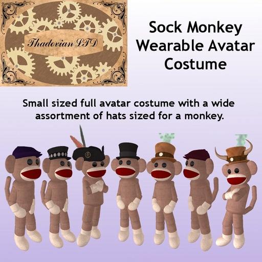 Thadovian LTD Sock Monkey Avatar - Basic