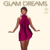 Glam Dreams Volantes Cocktail Dress (Fuschia )