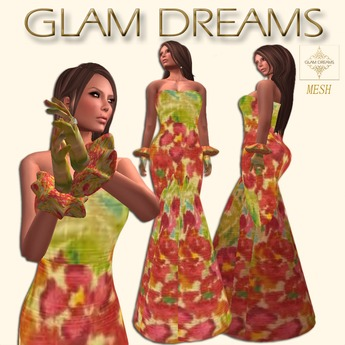Glam Dreams Spring Collection ( Flores Hilo Mesh Gown )