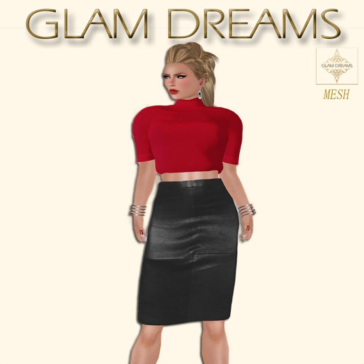 Glam Dreams Mesh Smitten (Black & Red)