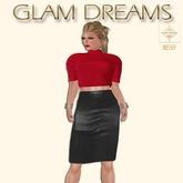 Glam Dreams Mesh Vintage Swirl Gown (Black)