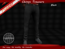 ~Pepper~Chinos Trousers *BLACK*