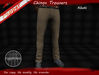 ~Pepper~Chinos Trousers *KHAKI*