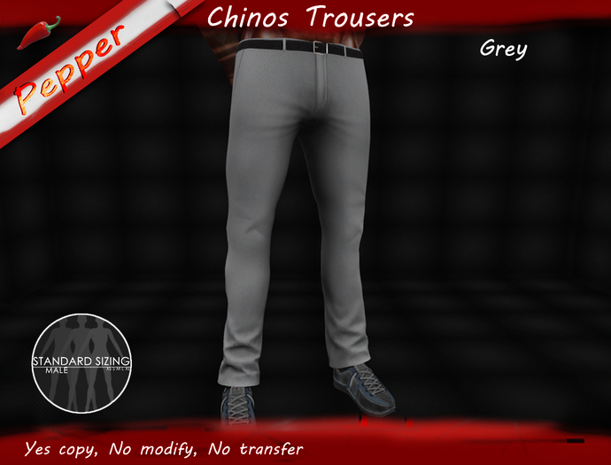 ~Pepper~Chinos Trousers *GREY*