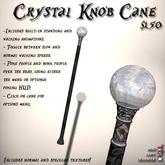 Crystal Knob Cane