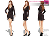%50WINTERSALE Full Perm Rigged Mesh Wrap Slim Dress