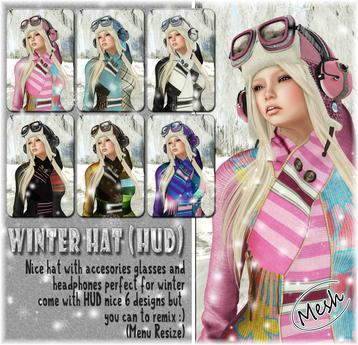 NS::  Winter Hat mesh (HUD)