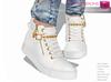 Full Perm Mesh Women's Long Neck Street Style Sneakers