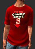 Mesh Christmas Vintage Tee-Red-Novelty-Candy Cane