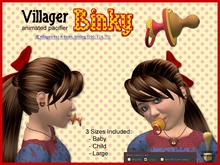 Villager Animated Binky Pacifier