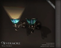".:SF:. ""Nevermore"" Wall Sconce Light"