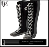 FK! - Knee High Converse Boots (Black)