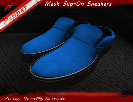 ~Pepper Slip On Sneakers *Blue*
