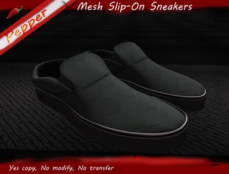 ~Pepper Slip On Sneakers *All Black*