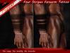~Pepper~Four Stripes Forearms Tattoos