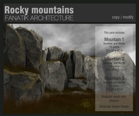 :Fanatik Architecture: Rocky Mountains - mesh sim building / landscaping kit
