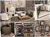 "<HEART HOMES>""Industrial"" Fancy Living Room Set  (Boxed, Copy, Rezzer)"