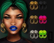 ::LC:: Lion Door Knocker Earrings FATPACK