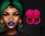 ::LC:: Lion Door Knocker Earrings [neon pink]