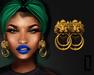 ::LC:: Lion Door Knocker Earrings [24k]