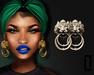 ::LC:: Lion Door Knocker Earrings [silver]