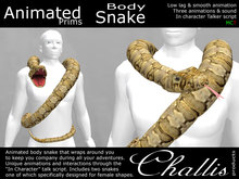 (Challis) Animated Shoulder Pet / Body Snake (Brown)