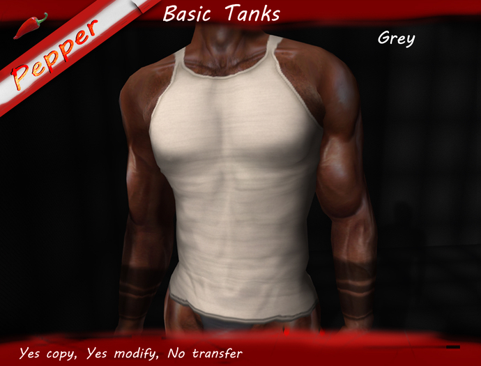 ~Pepper~Basic Tank *Grey*