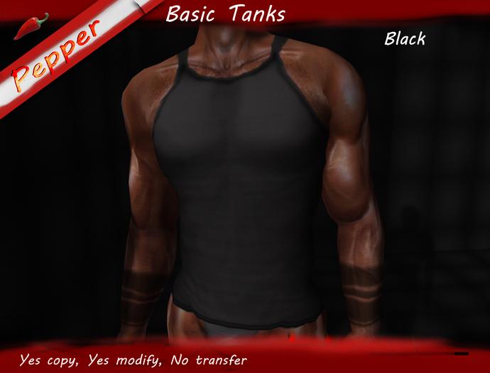 ~Pepper~Basic Tank *Black*