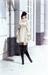 Ladies lace and fur trim winter coat scene