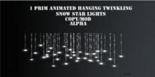 Animated alpha Twinkling snowstars lights