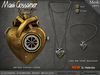 Mg   necklace    clockwork steampunk heart