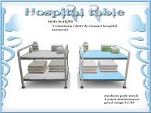 Hospital table *no copy version