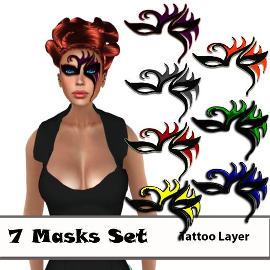 7 Masks Black Base~Phantasmas