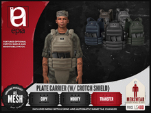 (epia) - Plate Carrier (w/Crotch Shield)
