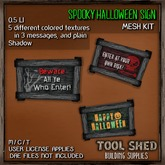 Tool Shed - Spooky Halloween Sign Kit