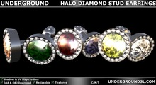 [UG MESH] HALO DIAMOND STUD EARRINGS